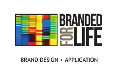 Branded for life logo - Brand design & Application.